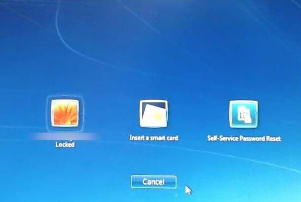 Windows Self-Service Reset Screenshot