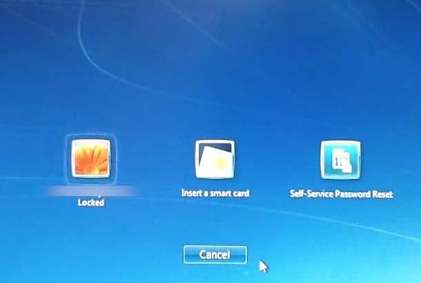 Windows Self-Service Reset Screenshot