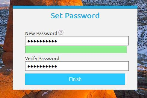 Utah ID Set New Password Screenshot