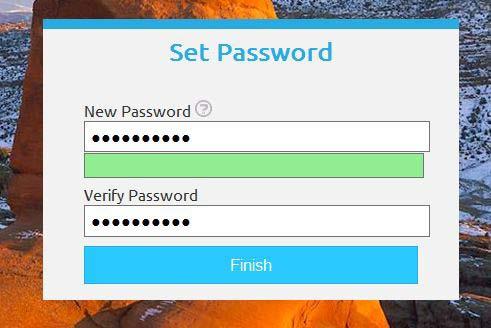 Utah ID Set New Password Screenshot