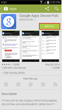 Android App Store Screenshot