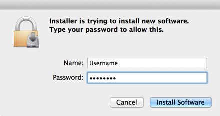 Installer Authenticate Screenshot