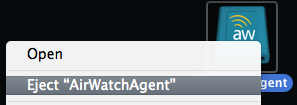 Eject AirWatchAgent Screenshot