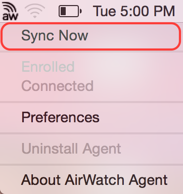 AW Sync Now Screenshot