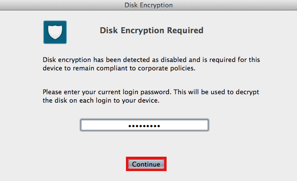 Disk Encryption Screenshot