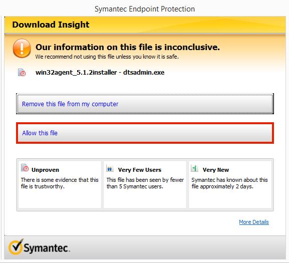 Symantec Screenshot