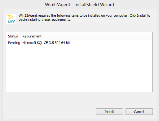 Win32Agent InstallShield Screenshot