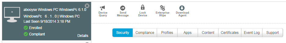 AirWatch  Screenshot