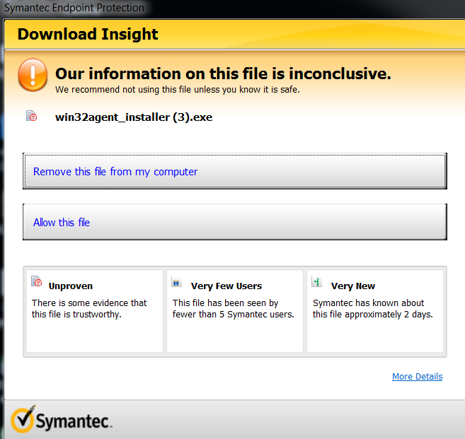 Symantec Screenshot