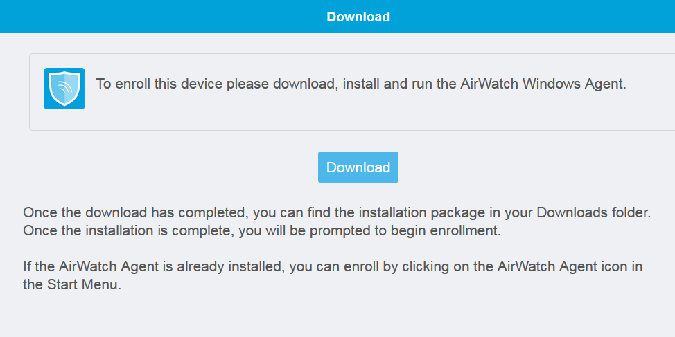 Download AirWatch Screenshot