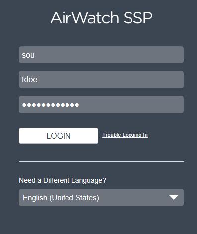 self service portal login