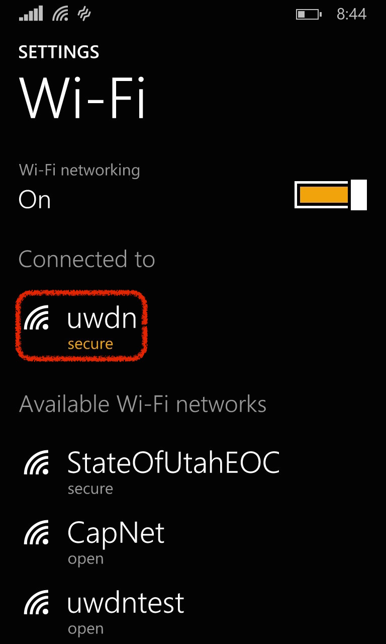 Windows Wi-Fi Settings Screenshot