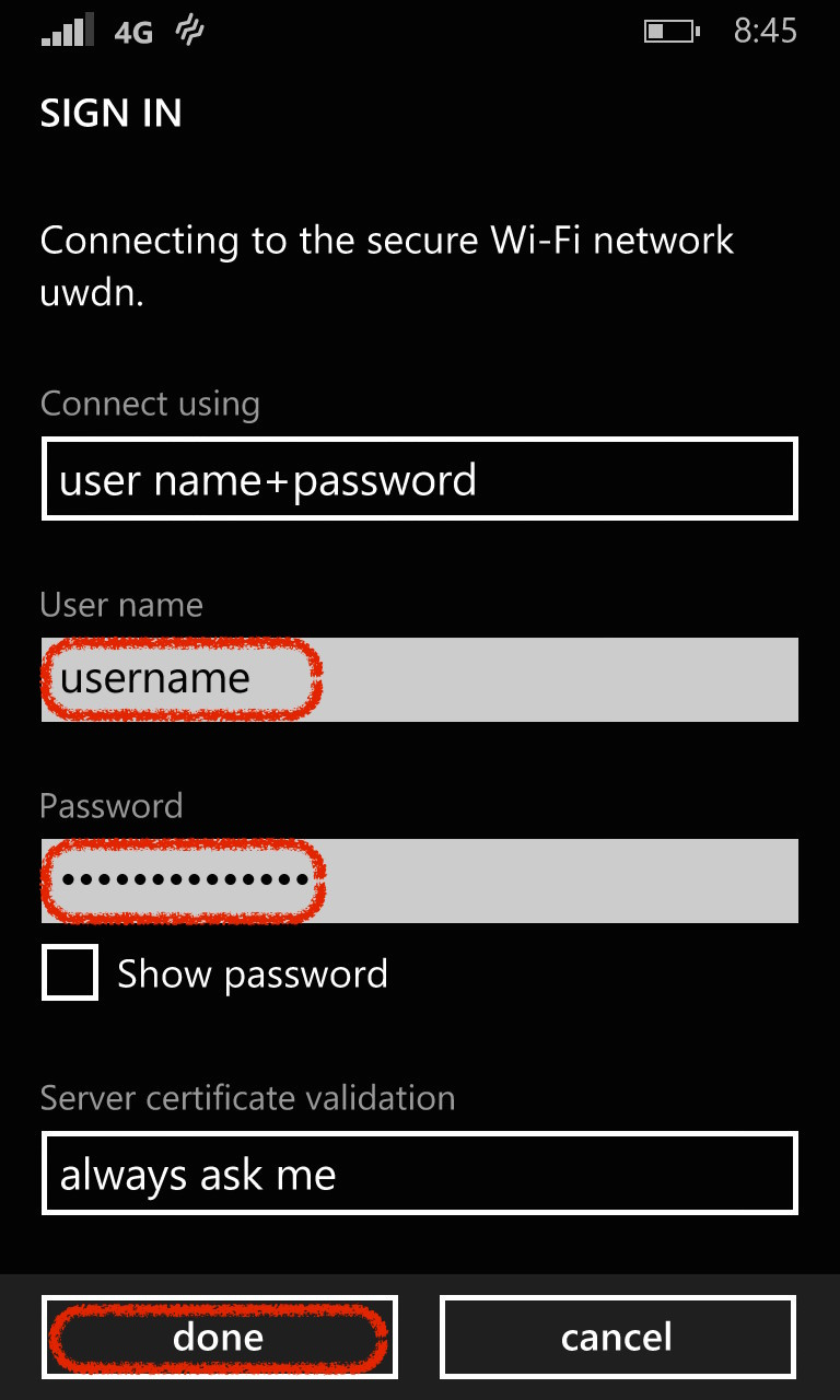 Windows Wi-Fi Sign in Screenshot